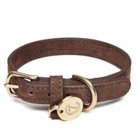 Cloud7 Dog Collar Nubuk Mocca
