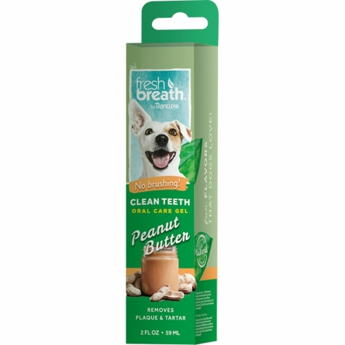 Tropiclean Fresh Breath Clean Teeth Gel Peanut Butter 59 ml in the group Other / Care / Mouth care at Dogmania (1201)