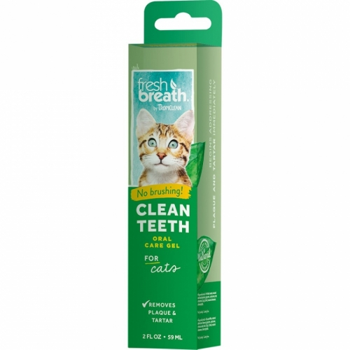 Tropiclean Fresh Breath Clean Teeth Gel For Cats 59 ml in the group Cat at Dogmania (1203)