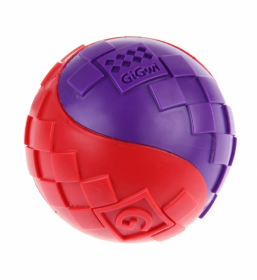 GiGwi Ball Red/Purple L in the group Dog toys / Balls / Balls with squeaker at Dogmania (1254)