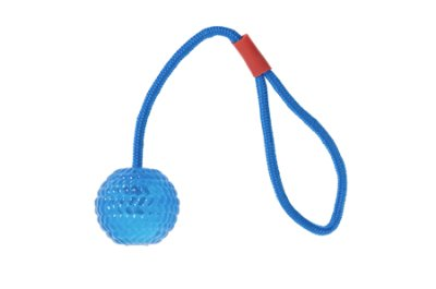 Karlie Good 4 Fun Ball With Rope 7 cm Blue in the group Dog toys / Balls / Balls with rope at Dogmania (1263)