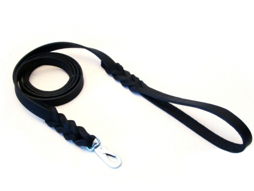 Alac Leather Leash 180 cm Black in the group Dog Equipment / Leashes / Leather Leashes at Dogmania (127)