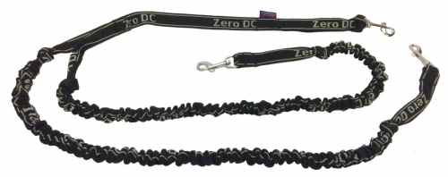 Zero DC Bungee Lead, Under 10 kg 2,5 m, double, Black in the group Dog Equipment / Leashes / Mushing Leads at Dogmania (1342)