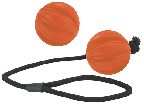 Dog Comets Ball Swift Orange With Rope in the group Dog toys / Balls at Dogmania (1493)