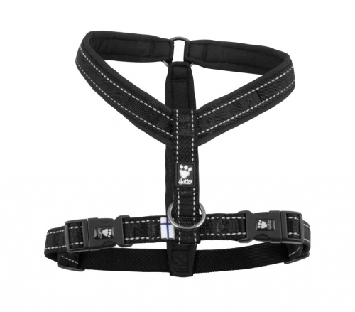 Hurtta Casual Padded Y-Harness Raven in the group Dog Equipment / Dog Harnesses / Y Harnesses at Dogmania (1552)
