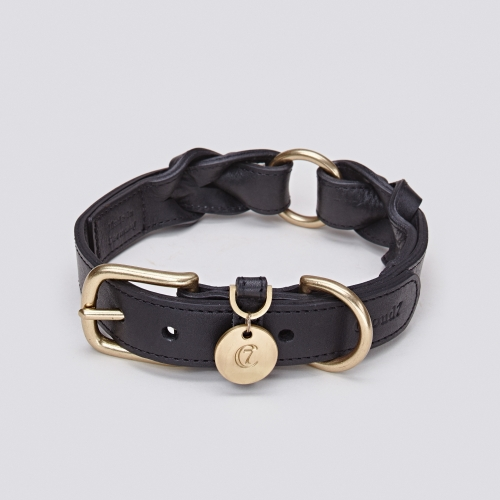 Cloud7 Dog Collar Hyde Park Black in the group Dog Equipment / Dog Collars / Leather Collar at Dogmania (1991)
