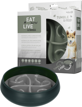 Eat Slow Live Longer Tumble Feeder Grå i gruppen Hundleksaker / Aktiveringsleksaker hos Dogmania (2054)