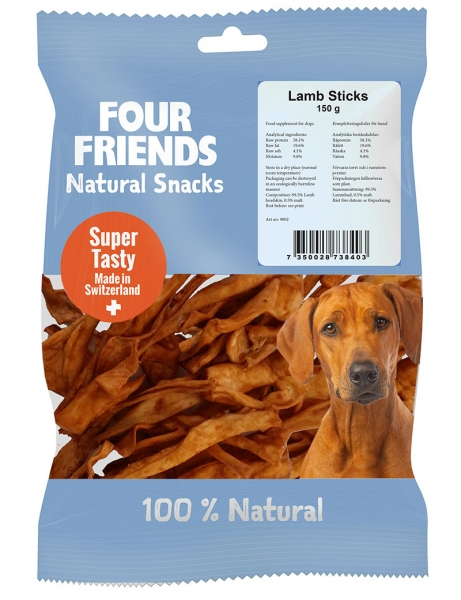 FourFriends Natural Snacks Lamb Sticks i gruppen Hundgodis / Tuggben hos Dogmania (2178)