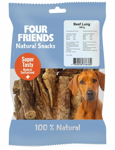FourFriends Natural Snacks Beef Lung in the group Dog Treats / Chew Bone at Dogmania (2179)