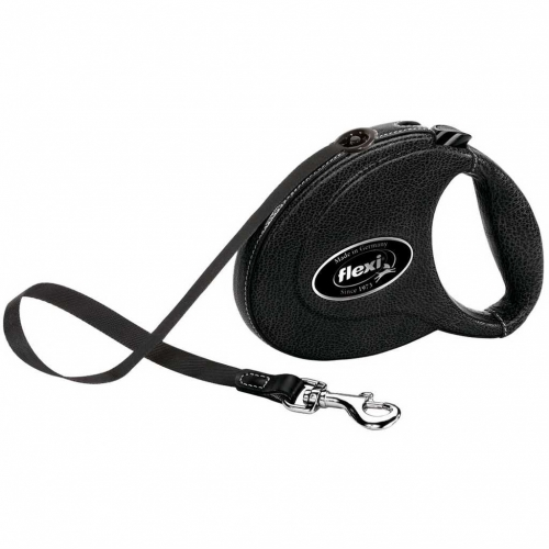 Flexi Leather Leash 5 m Black in the group Dog Equipment / Leashes at Dogmania (2241)