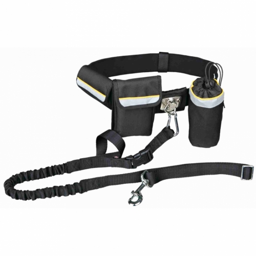 Trixie Hands Free Waist Belt With pockets and Bungee Leash in the group Dog Training / Dog Sledding Supplies / Mushing Belts at Dogmania (2354)