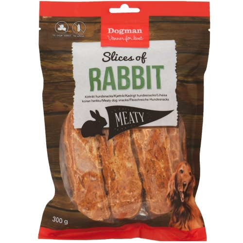 Dogman Slices of Rabbit 300 g in the group New arrivals at Dogmania (2421)