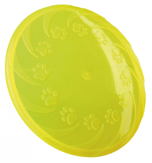 Trixie Floatable Frisbee TPR Yellow in the group Dog toys / Frisbees at Dogmania (2449)