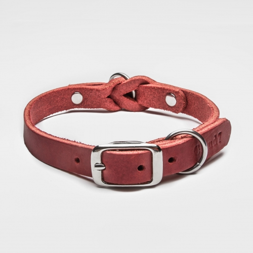 Cloud7 Riverside Park Merlot Leather Collar in the group Dog Equipment / Dog Collars / Leather Collar at Dogmania (2496)