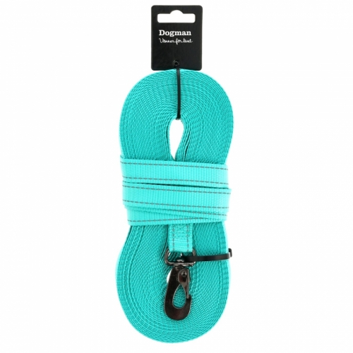 Dogman Woven Track Line Iris Turquoise in the group Dog Equipment / Leashes / Tracking leads at Dogmania (2675)