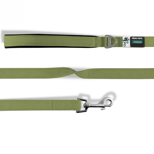 Curli Basic Leash Nylon Linen-Olive in the group Dog Equipment / Leashes / Nylon Leashes at Dogmania (2715)