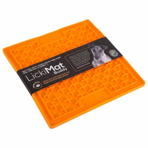 LickiMat Buddy Treat Mat Orange in the group Other / Bowls / Eat Slow Bowls at Dogmania (2780)