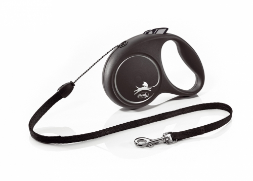 Flexi Leash Black Design with cord 5 m in the group Dog Equipment / Leashes at Dogmania (3191)