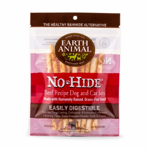 Earth Animal No-Hide Beef Chews Stix 10 st i gruppen Hundgodis &  tuggben / Tuggben hos Dogmania (3197)