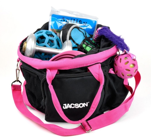 Jacson Training Bag Dog Black/Pink in the group Other / For dog owner / Bags at Dogmania (330001)