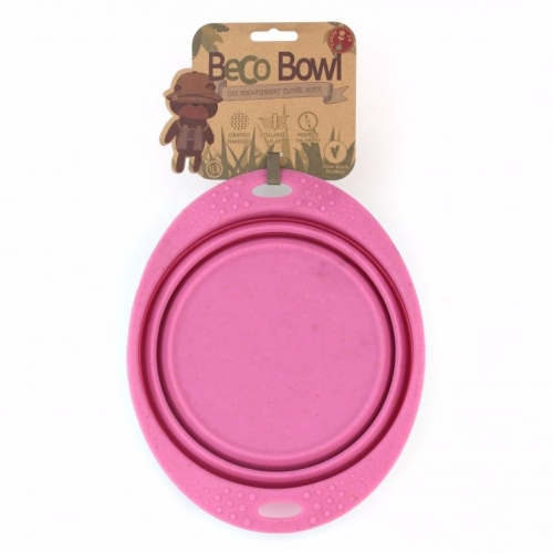BecoBowl Travel Foldable Bowl Pink in the group Dog Equipment / Hiking at Dogmania (712)