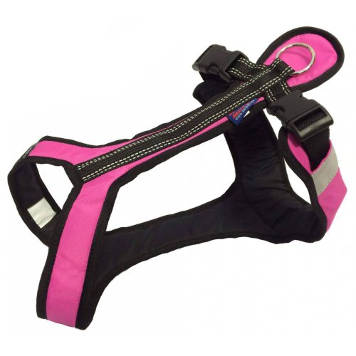 Zero DC SHORTER Harness Pink in the group Dog Equipment / Dog Harnesses / Y Harnesses at Dogmania (716)