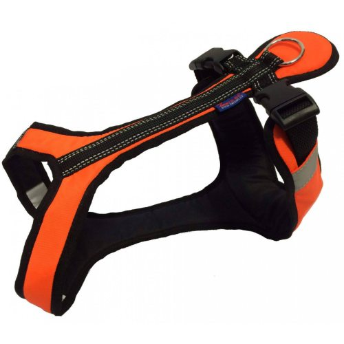 Zero DC SHORTER Harness Orange in the group Dog Equipment / Dog Harnesses / Y Harnesses at Dogmania (721)