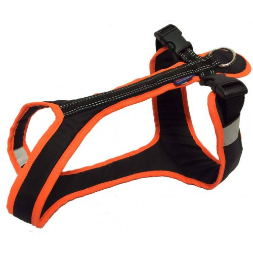 Zero DC SHORTER Harness Black/Neonorange in the group Dog Equipment / Dog Harnesses / Y Harnesses at Dogmania (725)
