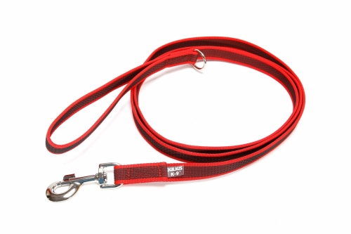 Julius K9 Color & Gray Super Grip Leash with Handle Red in the group Dog Equipment / Leashes / Anti-slip at Dogmania (976)