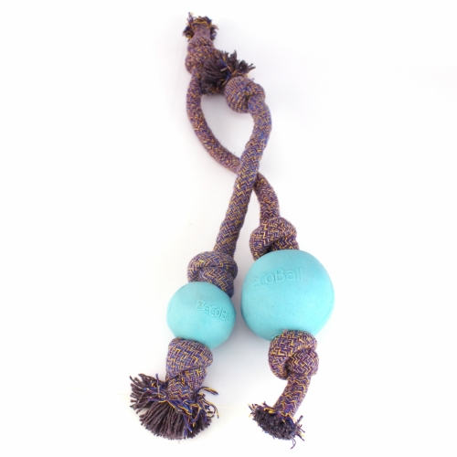 BecoBall with Rope Blue in the group Dog toys / Balls / Balls with rope at Dogmania (981)