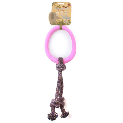 BecoHoop Ring Pink in the group Dog toys / Tug Toys / Rubber at Dogmania (998)