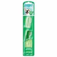 Tropiclean Fresh Breath Fingertandborste Hund 2-pack