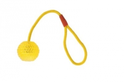 Karlie Good 4 Fun Ball With Rope 7 cm Yellow