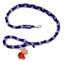 Tug-E-Nuff Braided Leash, Purple/black