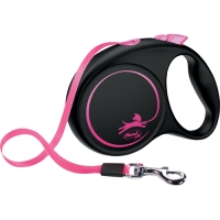 Flexi Fun Limited Edition Leash 5 m Black/Pink