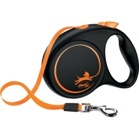 Flexi Fun Limited Edition Leash 5 m Black/Orange