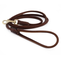 Jacson Round Leather Leash Alba