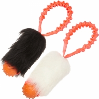 Tug-E-Nuff Pocket Bungee Sheepskin Ball Tug, Orange