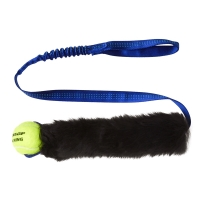 Tug-E-Nuff Sheepskin Bungee Chaser with Tennis Ball