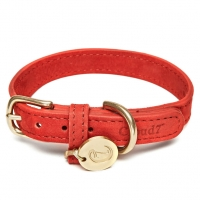 Cloud7 Dog Collar  Nubuk Cherry Red