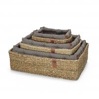 Cloud7 Hideaway Herringbone Brown Dog Bed