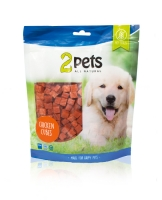 2Pets Dogsnack Chicken Cubes 400 g