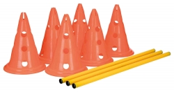 Trixie Dog Activity Obstacle Set 6 Cones 3 Poles