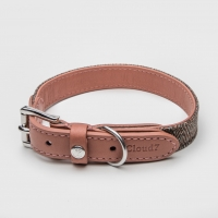 Cloud7 Boboli Leather Rose Dog Collar