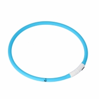 Dogman LED Collar Silicone Turquoise
