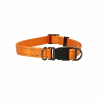 Dogman Adjustable Dog Collar Iris Orange