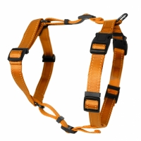 Dogman Adjustable H-harness Iris Orange