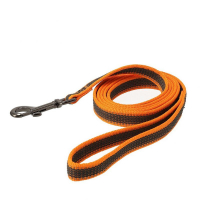 Dogman Anti-Slip Leash Iris Orange