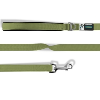 Curli Basic Leash Nylon Linen-Olive