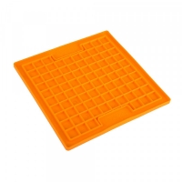 LickiMat Playdate Slickmatta Orange 20 x 20 cm